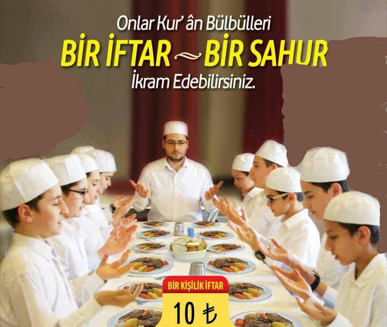 Gelin bu Ramazan'da sizde medreselerimizde bir talebenin yüzünde tebessüm olun.